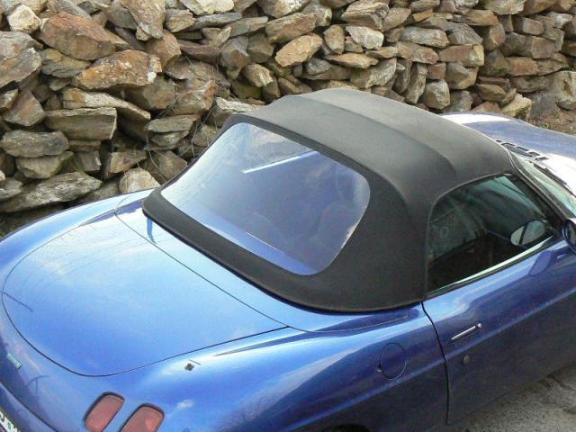 Fiat Barchetta - Výměna okna (zvětšení)